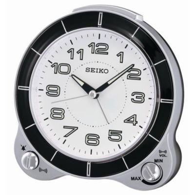 Seiko Bedside Alarm Clock - QHK031SLH, Silver