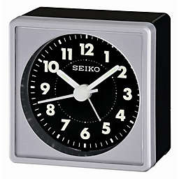 Seiko Square Travel Alarm Clock in Black