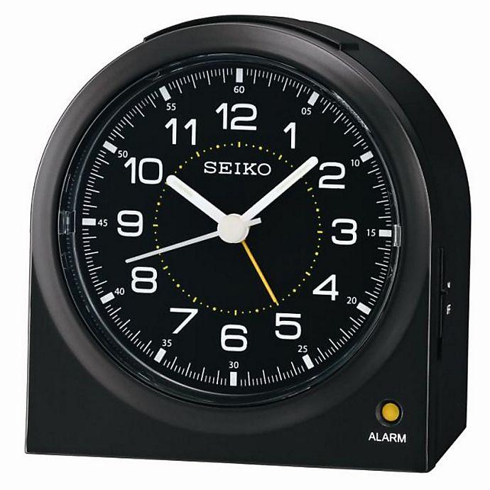 Alternate image 1 for Seiko Bedside Alarm Clock in Black
