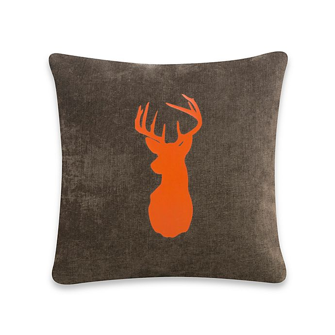 Alternate image 1 for Glenna Jean Echo Buck Pillow in Brown