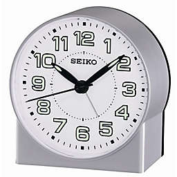 Seiko Bedside Alarm Clock in White
