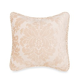 Glenna Jean Ribbons & Roses Damask Pillow With Cord Trim