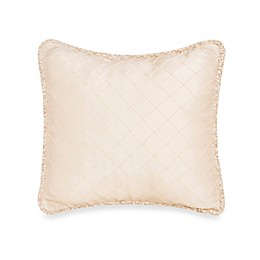 Glenna Jean Ribbons & Roses Diamond Pillow With Cord Trim