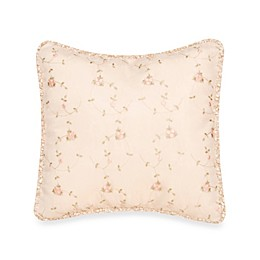 Glenna Jean Ribbons & Roses Embroidery over Moire Pillow