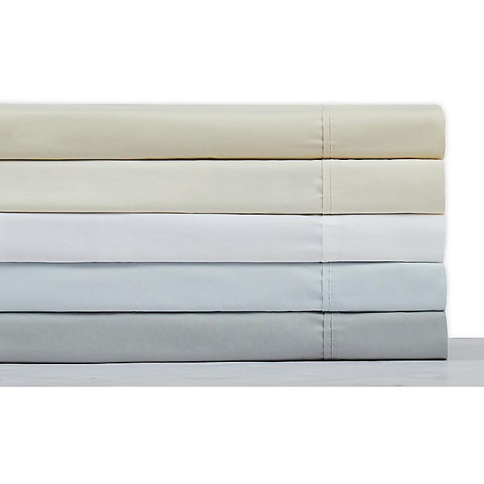 Alternate image 1 for Charisma® Solid 400-Thread-Count Percale Cotton Sheet Collection