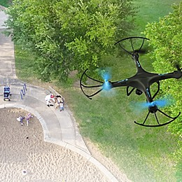 U45W Quadcopter Drone with Wi-Fi Camera in Blue Jay
