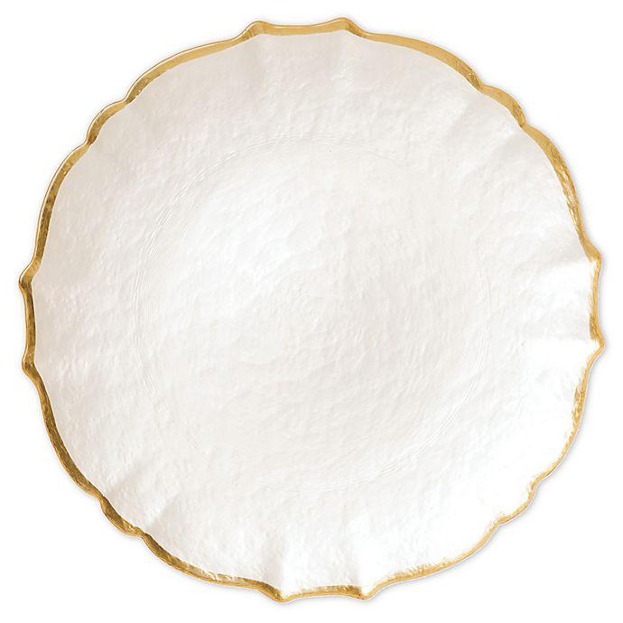 Alternate image 1 for viva by VIETRI Baroque Glass Salad Plate