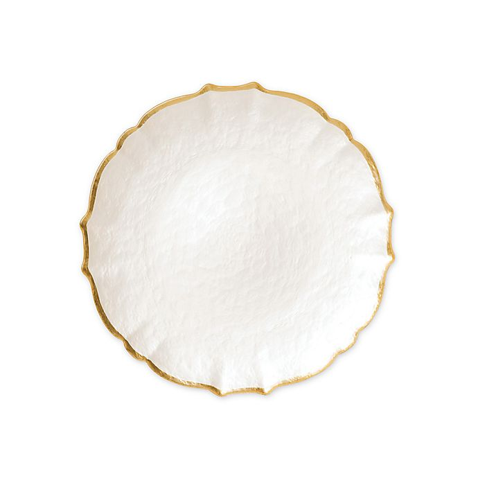 Alternate image 1 for viva by VIETRI Baroque Glass Charger Plate