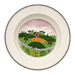 Villeroy & Boch Design Naif Hunter and Dog Rim Soup Bowl
