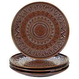 Certified International Aztec Dessert Plates in Brown (Set of 4)