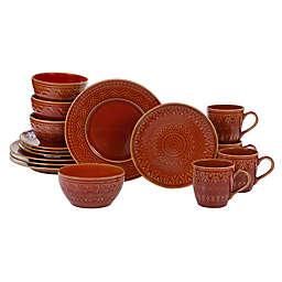 Certified International Aztec 16-Piece Dinnerware Set in Rust