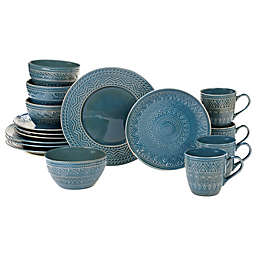 Certified International Aztec 16-Piece Dinnerware Set in Teal