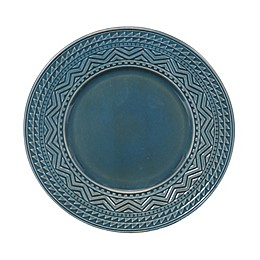 Certified International Aztec Dinner Plates in Teal (Set of 4)