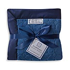 SwaddleDesigns® Stroller Blanket With Puff Circles in True Blue