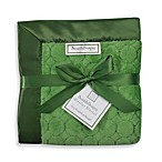 SwaddleDesigns® Stroller Blanket With Puff Circles in Pure Green