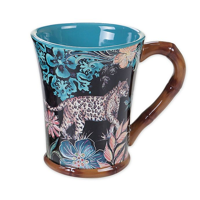 Alternate image 1 for Certified International Exotic Jungle Mugs (Set of 4)