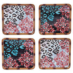 Certified International Exotic Jungle Canape Plates (Set of 4)