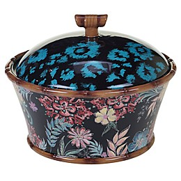 Certified International Exotic Jungle 9.25-Inch Serving Bowl with Lid