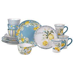 Certified International Citron 16-Piece Dinnerware Set with Mugs