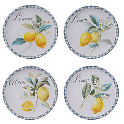 Certified International Citron Salad Plates (Set of 4)