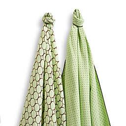 SwaddleDesigns® SwaddleDuo™ Modern Duo Blankets in Kiwi (Set of 2)