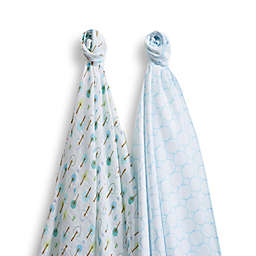 SwaddleDesigns® SwaddleDuo™ in Wild Blue(Set of 2)