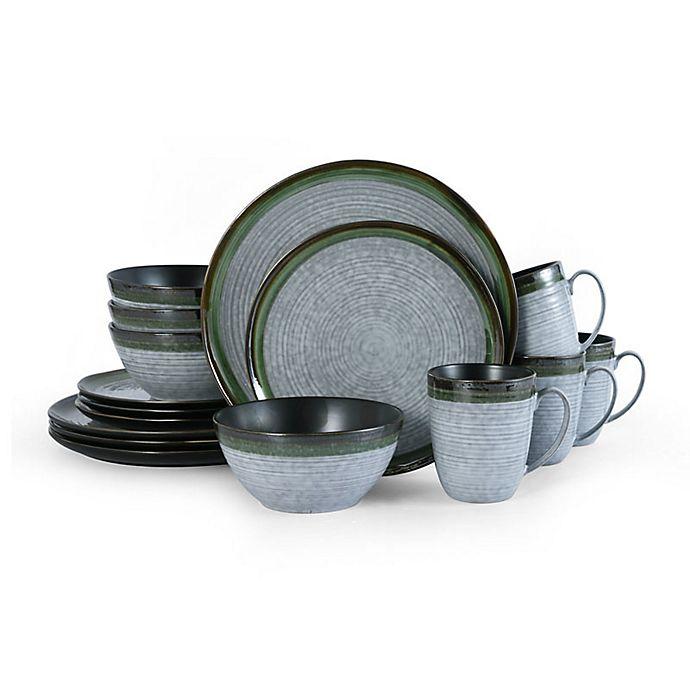 Alternate image 1 for Mikasa® Willa 16-Piece Dinnerware Set in Green