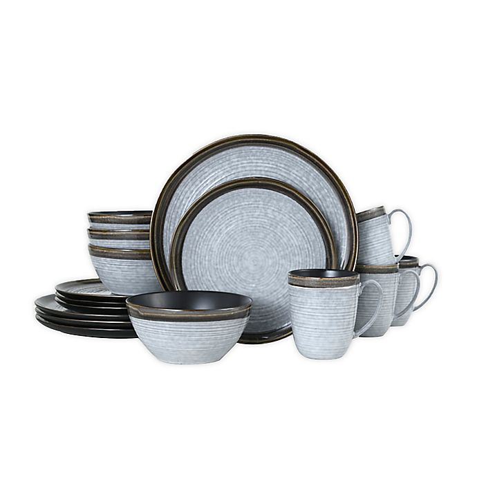 Alternate image 1 for Mikasa® Willa 16-Piece Dinnerware Set in Brown