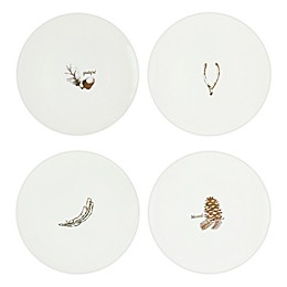 American Atelier Gold Fall Dessert Plates (Set of 4)
