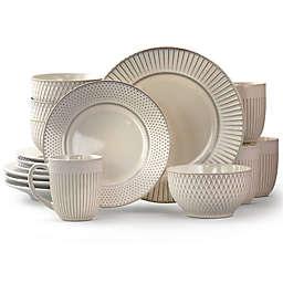 Elama Market Finds 16-Piece Dinnerware Set in White