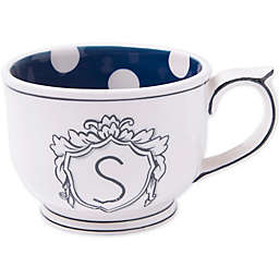 "Home Essentials & Beyond Molly Hatch Monogram Letter ""S"" Mug"