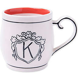 "Home Essentials & Beyond Molly Hatch Monogram Letter ""K"" Mug"