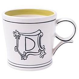 "Home Essentials & Beyond Molly Hatch Monogram Letter ""D"" Mug"