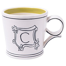 "Home Essentials & Beyond Molly Hatch Monogram Letter ""C"" Mug"