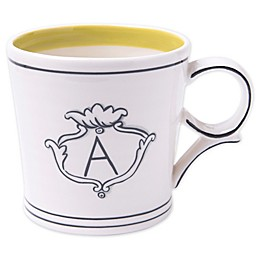 "Home Essentials & Beyond Molly Hatch Monogram Letter ""A"" Mug"