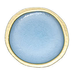 Classic Touch Textured Charger Plate in Blue/Gold