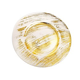 Classic Touch Trophy Brushed Gold Charger Plates (Set of 4)