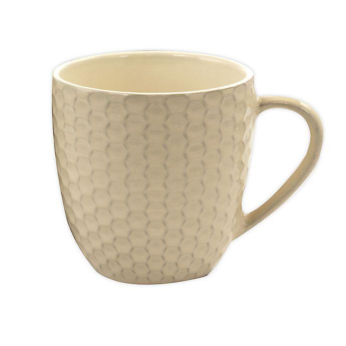 Elama Honeycomb Coffee Mugs in Cream (Set of 6) | Bed Bath & Beyond