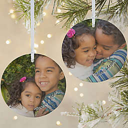 The Kids Photo Memories 3.75-Inch Matte 2-Sided Personalized Ornament