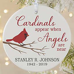 Cardinal Memorial 3.75-Inch Matte Personalized Ornament