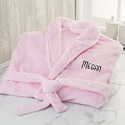 Classic Comfort Personalized Luxury Fleece Robe in Pink