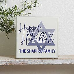 Happy Hanukkah Personalized Shelf Block