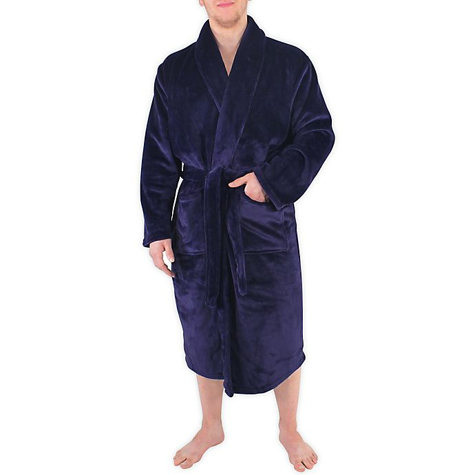 Alternate image 1 for Hudson Home Collection Men and Women Plush Robe