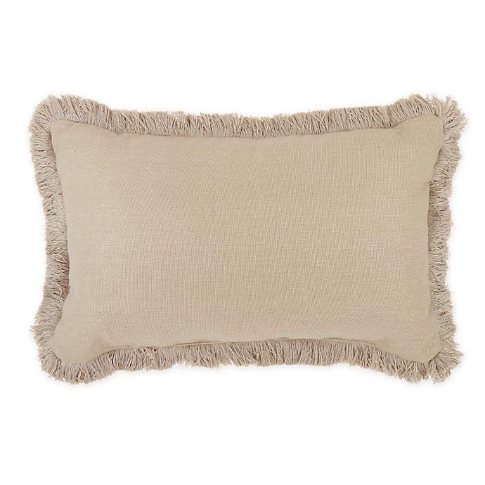 Alternate image 1 for Wamsutta® Dawson Oblong Throw Pillow in Cream