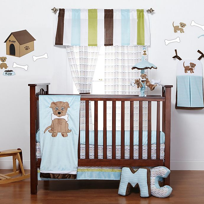 Alternate image 1 for One Grace Place Puppy Pal 3-Piece Crib Bedding Set