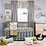 Part of the Glenna Jean Uptown Traffic Crib Bedding Collection