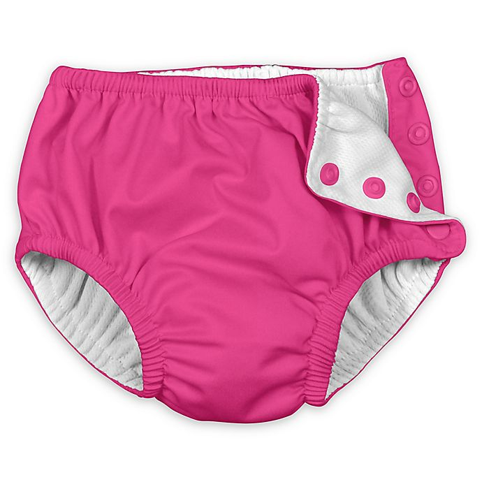Alternate image 1 for i play.® Snap Reusable Absorbent Swim Diaper Diaper in Hot Pink Solid