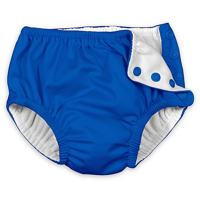 Alternate image 1 for i play.® Snap Reusable Absorbent Swim Diaper Diaper in Royal Blue