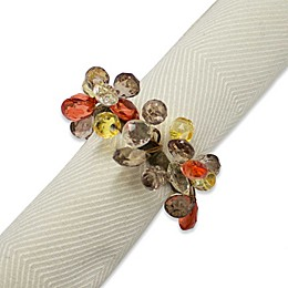 Amber Sparkle Napkin Rings (Set of 4)