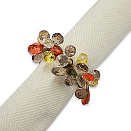 Amber Sparkle Napkin Rings (Set of 4)